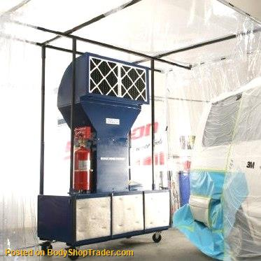 Auto Body Shops >> Automotive Portable Paint Booth - Spray Booths : Spray ...