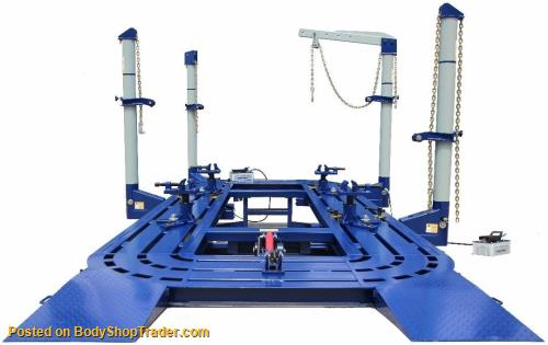 FREE SHIPPING 22 FEET 4 TOWERS AUTO BODY SHOP FRAME MACHINE WITH ...
