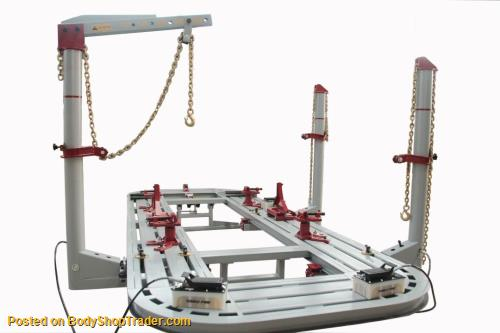 20FT LONG AUTOBODY SHOP FRAME MACHINE WITH FREE CLAMPS TOOLS/CART ...